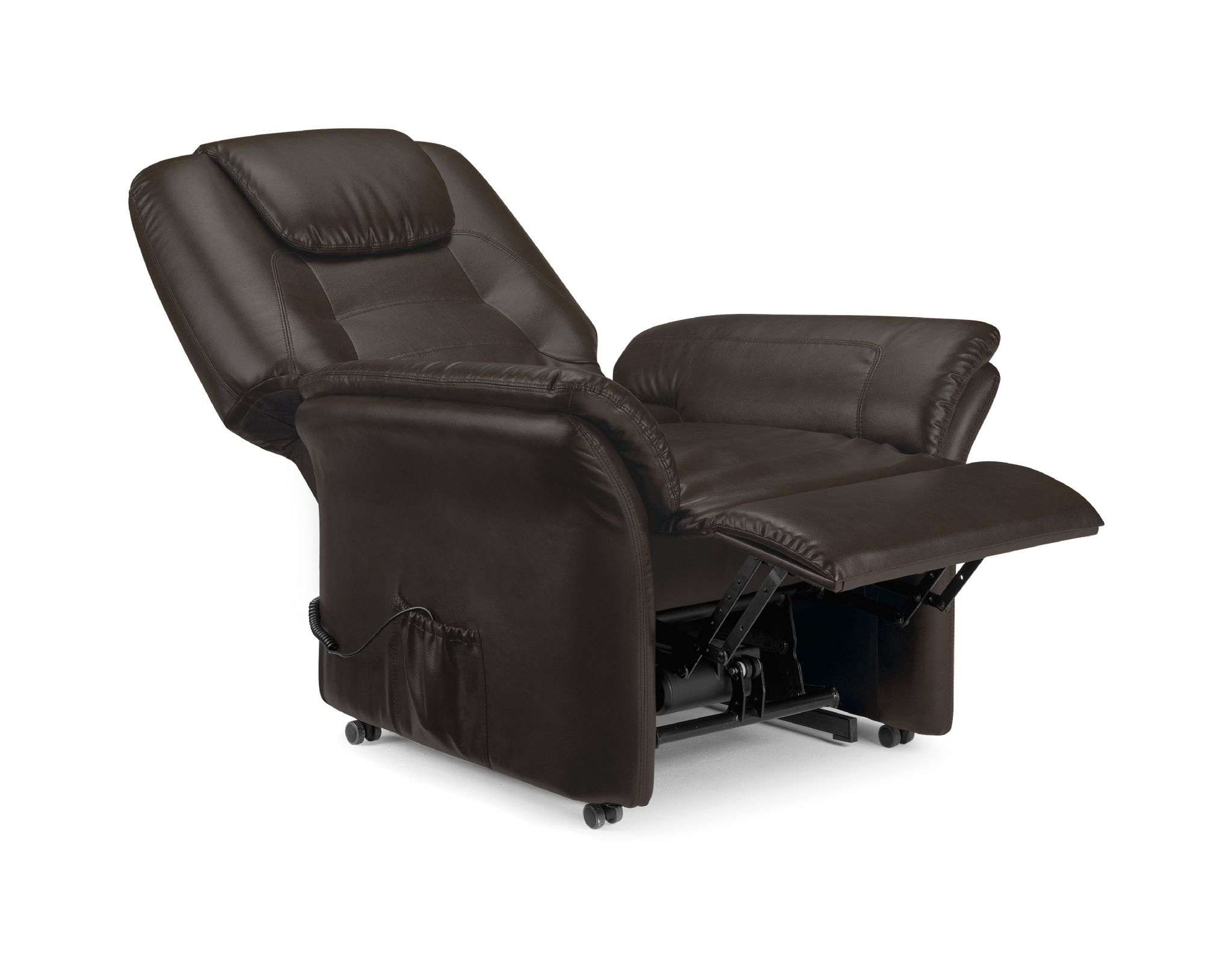 Montesilvano Brown Faux Leather Rise Amp Recline Chair Jb460